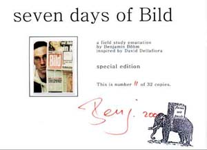 Seven days of Bild - certificate