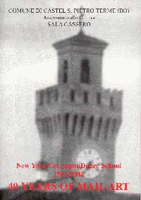 New York CorresponDance School 1962 - 2002 : 40 years of Mail Art - Katalogcover